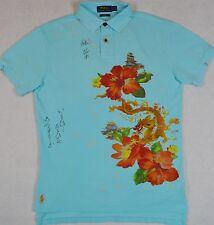 Polo Ralph Lauren Custom Fit Chinese Dragon Floral Print Mesh Shirt S NWT