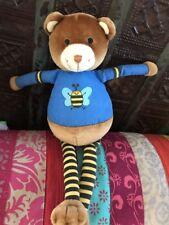 DOUDOU OURS  marron/bleu abeille OKAIDI, TBE!!!