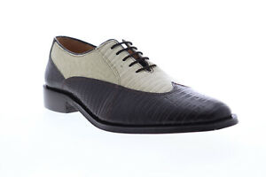 Giorgio Brutini Melby 210072 Mens Brown Leather Plain Toe Oxfords Shoes 9