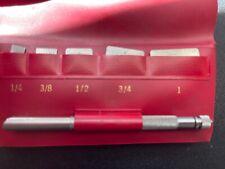 Clean Vintage Lufkin No. 20 - S Steel Rule Set w/ Holder