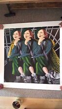 LARGE Alexi Allens Serigraph - 3 Women Smoking - Signed & Numbered 38/385