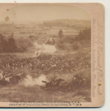 Charge of the 19th Regiment Battle of Gettysburg PA Stereoview