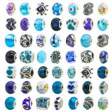 Lot Of Pandora Charms Assorted Crystal Rhinestone Beads Charm 50Pcs New