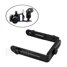 L-shaped Metal Double Dual Flash Bracket Holder Mount for Canon Speedlite&Camera