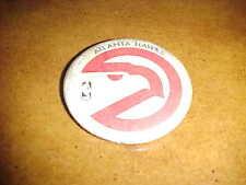 1970s Atlanta Hawks Logo Basketball Button