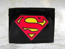 Superman Logo Decorated Leather Wallet - M149