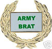 ARMY BRAT GOLD WREATH PIN