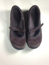 MERRELL ENCORE EMME WOMEN'S MARY JANE SUEDE/WOOL SHOES COFFEE BEAN SIZE 8