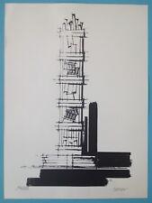 Lithographie Originale signée crayon à déterminer 235 exemplaires 38x28cm
