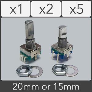 Rotary Encoder (Top Clickable) Switch D Shaft EC11 5 pin 15mm 20mm Arduino