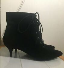 URBAN OUTFITTERS Black Lace-up Ankle boots UK 8 41 Peaky Blinders Sexy Booties