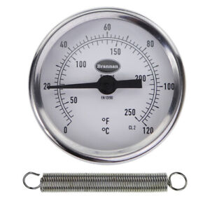 Clip on Pipe Thermometer 0 to 120 C&F - Hot Water Temperature Gauge 33/401/0