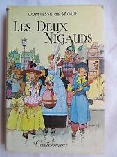 COMTESSE DE SEGUR LES DEUX NIGAUDS ILLUSTRATIONS JOBBE DUVAL 1955 DOS TINTIN