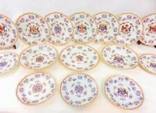 WONDERFUL 15pc ARMORIAL Famille Rose PLATES Samson French Chinese Export CRESTS