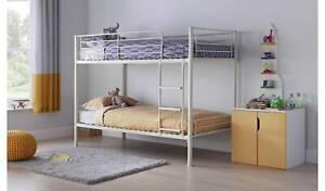 Mason Metal Bunk Bed Frame - White