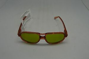 American Optical Safety Glasses 8758 Lens 58 Bridge 15 RED GRN 1.7 Steampunk
