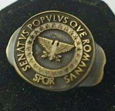 SPQR-LEGIO   Anciet Bronze Ring-Vintage-Antique ROMAN-RARE