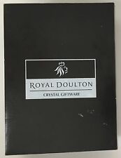 Royal Doulton Crystal Decanter Glass 3 piece Set Elegant Luxury Giftware NEW