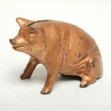 New ListingAntique A.C. Williams Figural Cast Iron Still Standing Bank, Sitting Pig