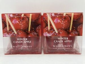 Bath & Body Works Home Winter Candy Apple Wallflowers Refills ~ 4 Refills