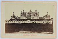 Castello Di Chambord Carta Armadio Vintage Albumina 1875