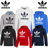 New Adidas Originals Mens Trefoil Fleece Hoodie Hooded Sweatshirt Top S-XL