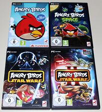 4 PC Jeux Bundle-Angry Birds Space & STAR WARS I & II-PC CD ROM NEUF