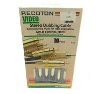 Recoton Video Stereo Dubbing Cable Gold Connection No. V-468 10 Foot Vintage New