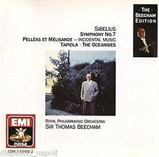 Sibelius: Symphony (Sinfonia) No.7, Tapiola, The Oceanides / Beecham - CD Emi