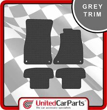 AUDI A5 3DR COUPE (2007-ON) RUBBER CAR MATS WITH GREY TRIM GENUINE UCP 1012