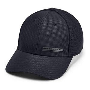 Under Armour Train Spacer Mesh Cap UA HeatGear Black Stretch Fit Hat