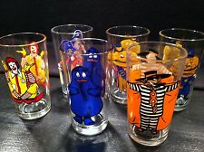 "1977 Complete Set of 6 McDonald's Collector Series ""C"" Glasses (mint)"