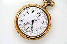 Antique Jewelry & Watches Rare Agassiz 14k Gold Pocket Watch With Central Seconds With A Fine Agassiz Box