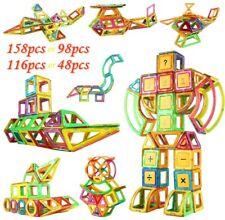 48-158tlg Magnetic Construction Block Spielzeug Magnetische Bausteine Blöcke Toy