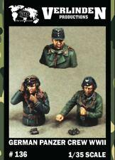 Verlinden Productions 1:35 WWII German Panzer Crew 3 Resin Bust Figures Kit #136