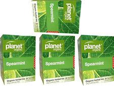 4 X 25 Bags Planet Organic Organic Herbal Spearmint Tea ( 100 Bags)