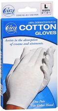 Cara 100% Dermatological Cotton Gloves Large 1 Pair
