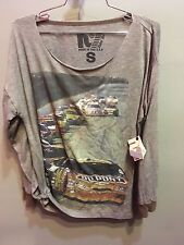 $82 NWT Rebel Yell Solid Gray NASCAR Race Car Graphic Crew Neck Size S