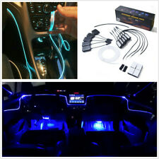 Car Atmosphere Light RGB LED Optic Fiber Decorative Lamp Bluetooth APP Control