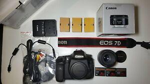 Canon 7D Camera - Body + Lens + original accessories
