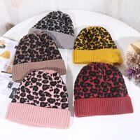 Fashion Women Men Winter Warm Leopard Print Beanie Hat Soft Touch Beanie