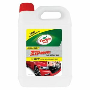 Turtle Wax Zip Super Concentrated Car Wash Shampoo & Wax Cleaning 5 Litre