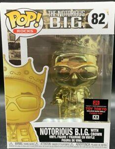 TOY TOKYO FUNKO POP! ROCKS THE NOTORIOUS B.I.G. SMALLS GOLD CHROME BIG biggie
