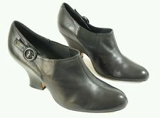 Audley for Filippo Raphael black leather kitten heel shoes uk 5 Eu 38