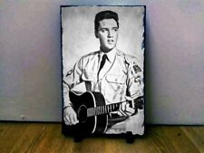 "Elvis Presley Sketch Art Portrait on Slate 12x8"" Rare Collectables memorabilia"