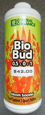 General Organics Bio Bud 1 Quart - Bloom Booster - New!!