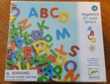Djeco Magnetic's Wooden Alphabet Magnets 83 pieces magnetic toy
