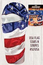 Skullskinz Lite USA American Flag Biker Costume Balaclava Face Mask Helmet Liner