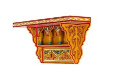 Painted Moroccan shelf, Wall Shelves Floating Shelves Yellow ,Rustic Floating