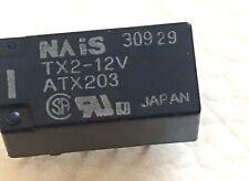 """NAIS RELAY TX2-12V """"TX2-DC12 TX2-12 RELAY LOT OF 2"""